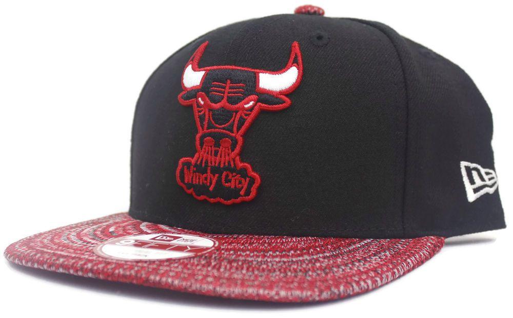 901fb8abee4 NBA New Era 9Fifty Chicago Bulls Snapback Cap Tribal Red Black Hat One Size  Sz  NewEra  ChicagoBulls