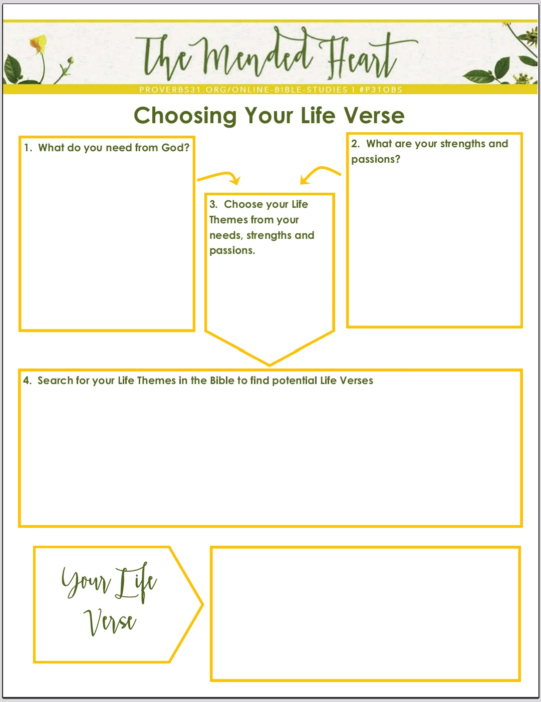 Bible Study Skills Life Verse
