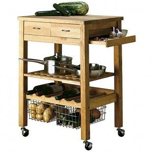 Solid Wood Butcher's Trolley from Argos - housetohome.co.uk in 2019 Kitchen dinning room ...