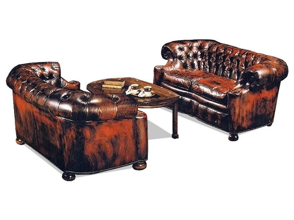 Old Hickory Tannery Living Room London City Club Loveseat 1045 - Hickory Furniture Mart - Hickory, NC