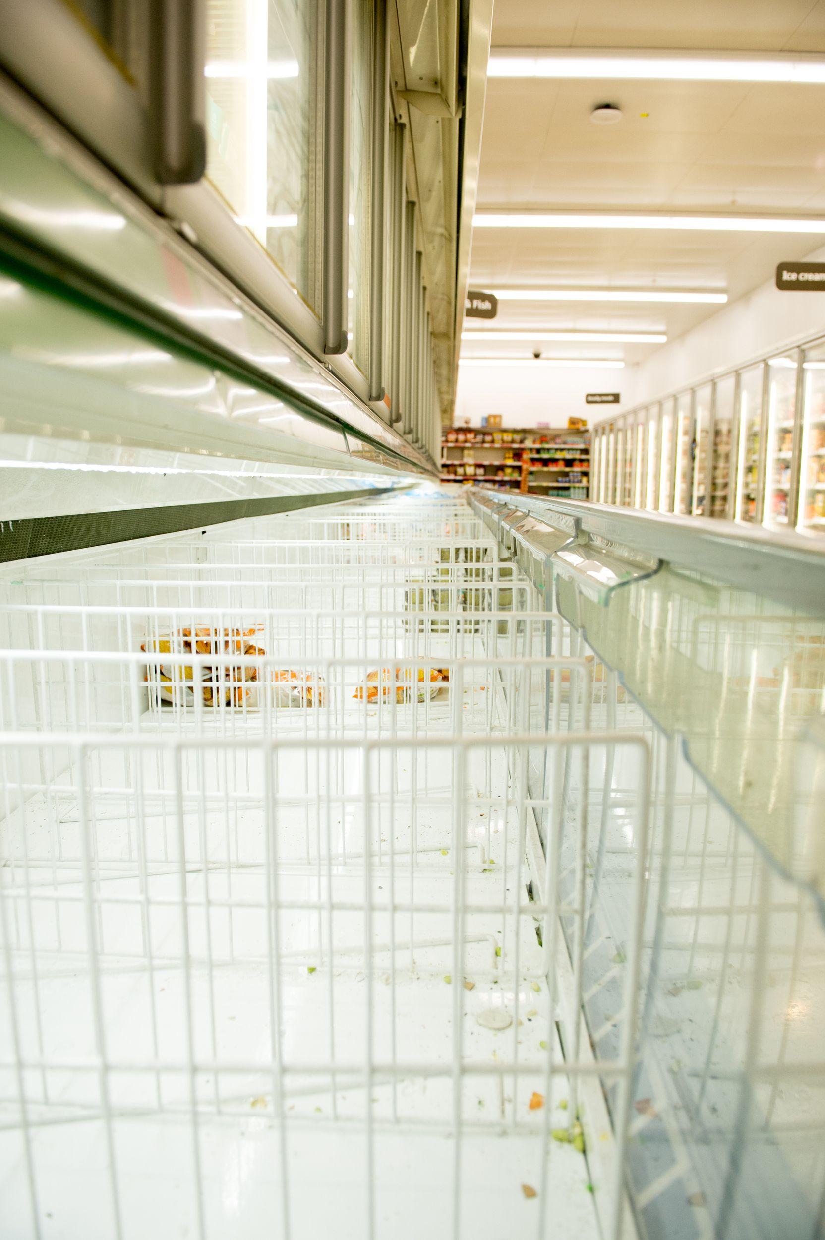 LONDON, ENGLAND MARCH 14 Empty Supermarket frozen