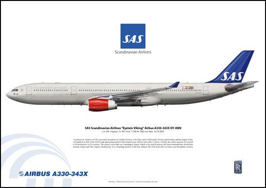 Sas Scandinavian Airlines Eystein Viking Airbus A330 343x Oy Kbn Sas Airlines Scandinavian Airlines System Airlines