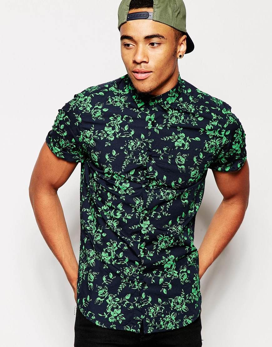 Image 1 of New Look Short Sleeve Floral Shirt