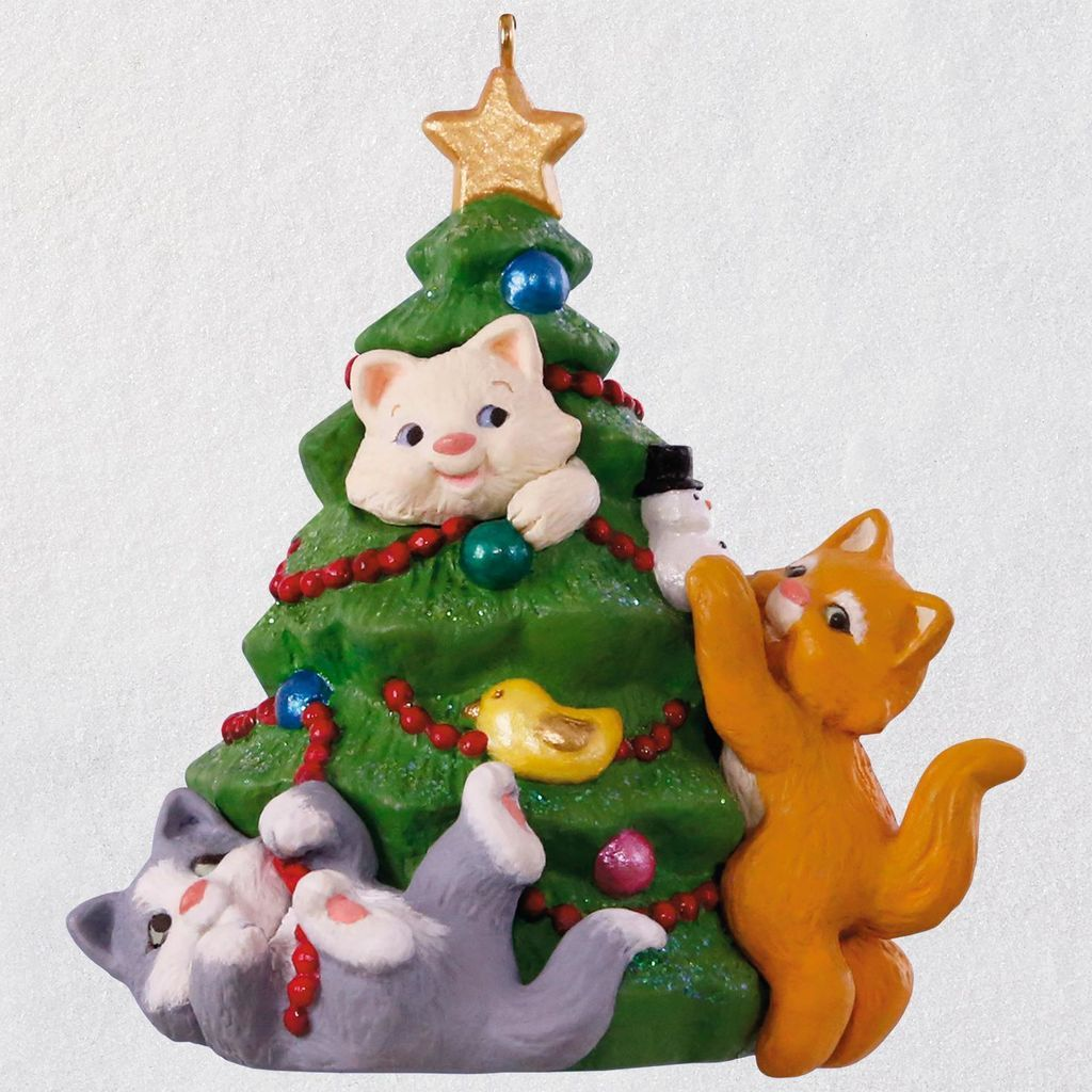 Mischievous Kittens 20th Anniversary Ornament With Images Hallmark Ornaments Baby First Christmas Ornament Anniversary Ornament