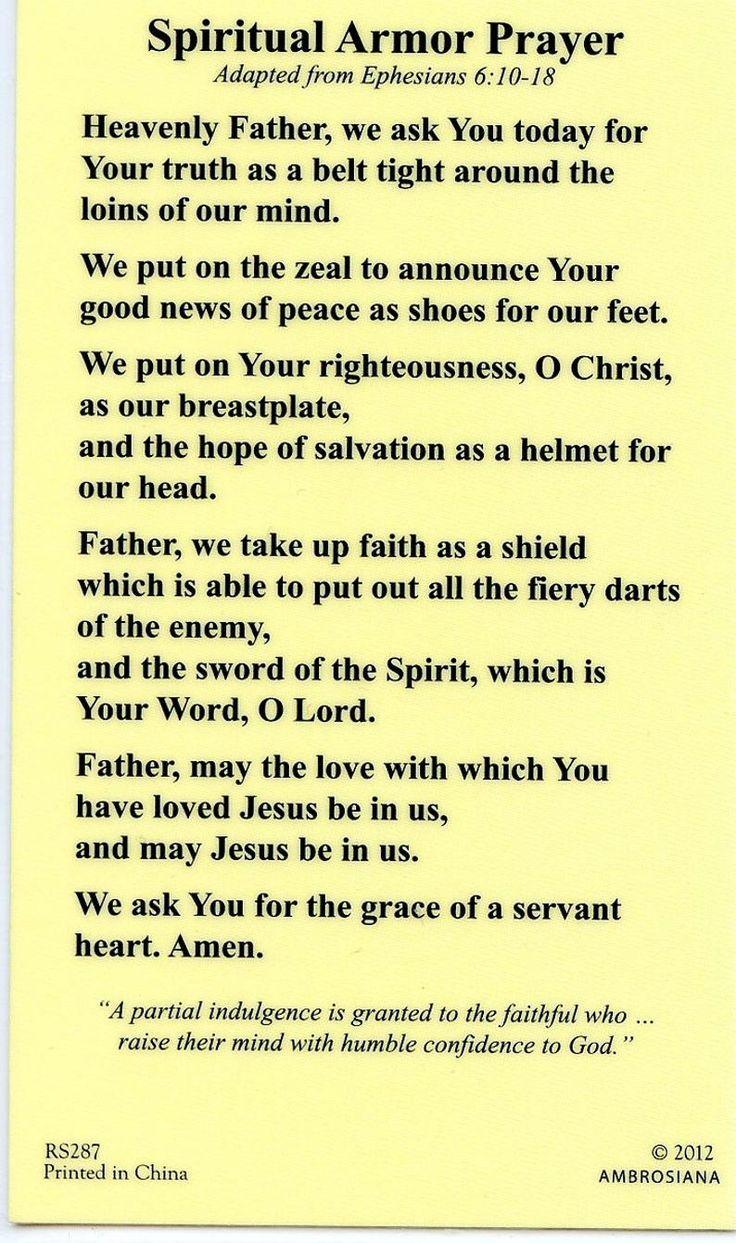 ST. MICHAEL Spiritual Armor Prayer  Holy card  Pra