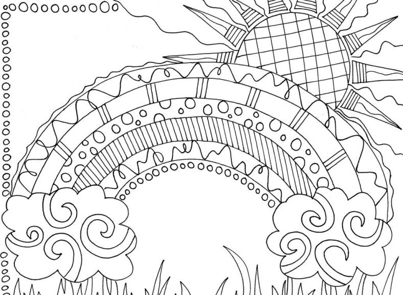 Beautiful Rainbow Coloring Pages To Print 101 Coloring Free Coloring Pages Coloring Pages Doodle Coloring