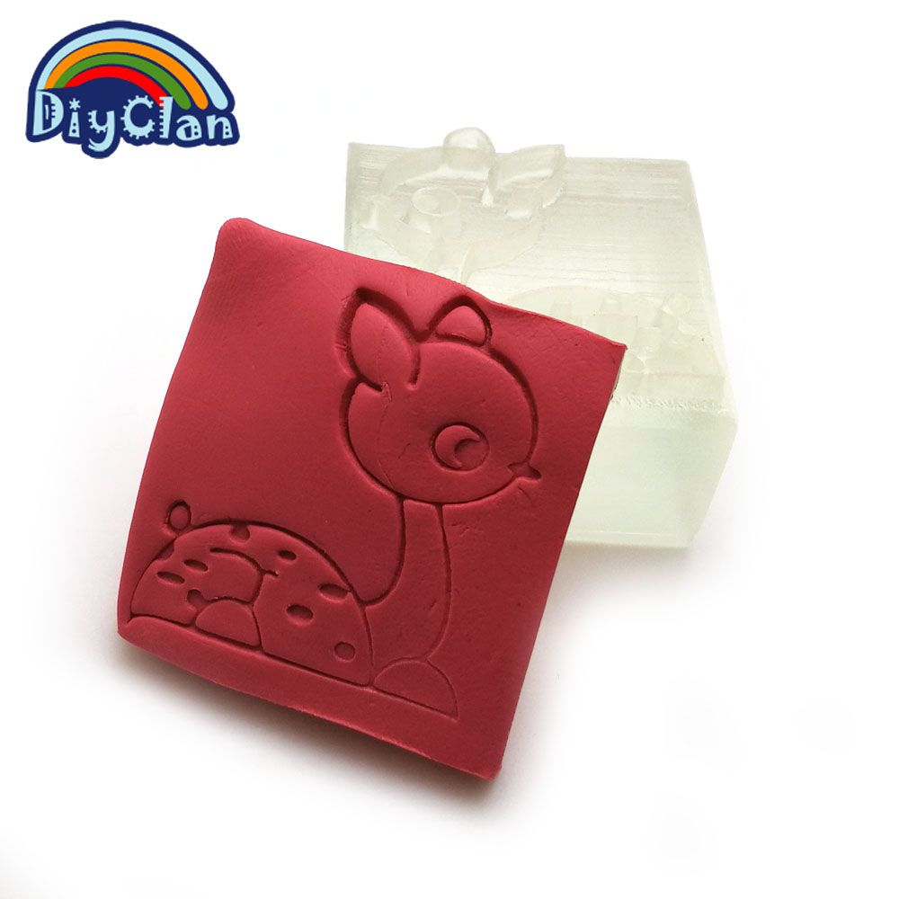 Sika deer handmade resin soap stamp custom diy new resin soap