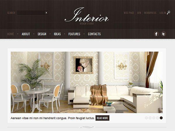 Interior design, Templates and Wordpress on Pinterest