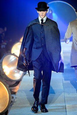 Old Hollywood Glamour Men John Galliano Menswear Mens Fashion Classic John Galliano