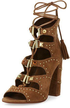 1ab602990 Ash Alexa Studded Lace-Up Sandal