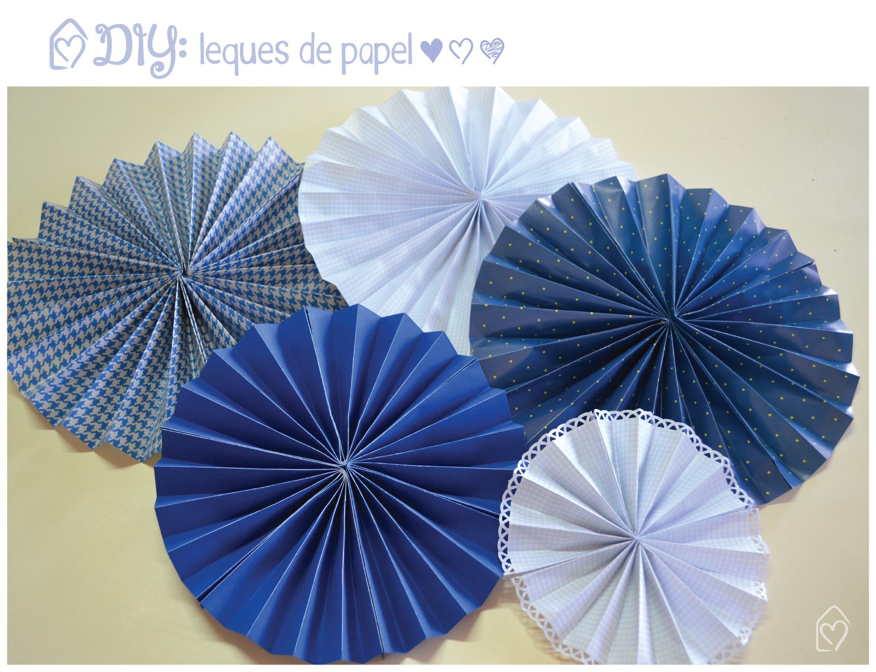 DIY: leques de papel