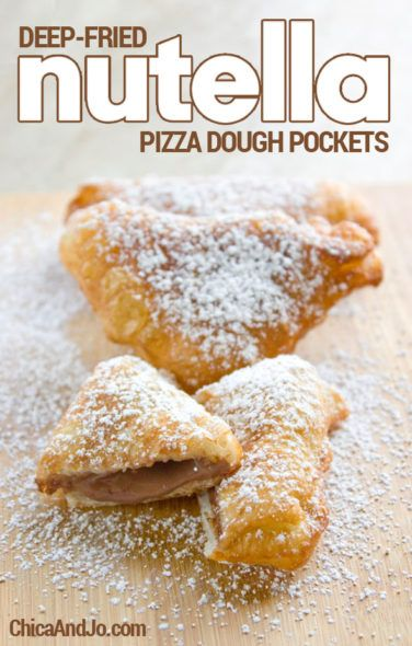 Deep Fried Nutella Pizza Dough Pockets Chica And Jo Fried