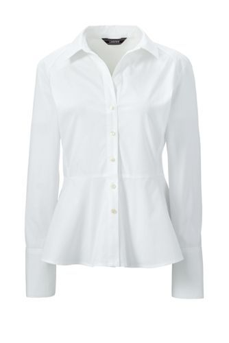 Women S Long Sleeve Peplum Blouse From Lands End White Work Wear