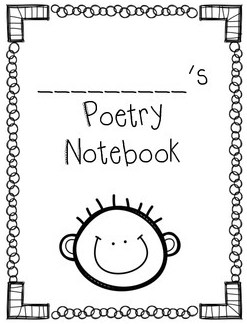 cute poetry notebook covers. boy & girl versions. free ...