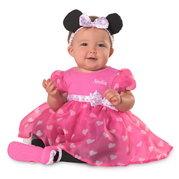 NEW Disney Store Minnie Mouse Costume Dress Up Shoes 5//6 Baby//Toddler