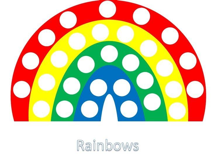 Rainbow Pom Pom Template | Rainbow Pompom Template | Fine Motor