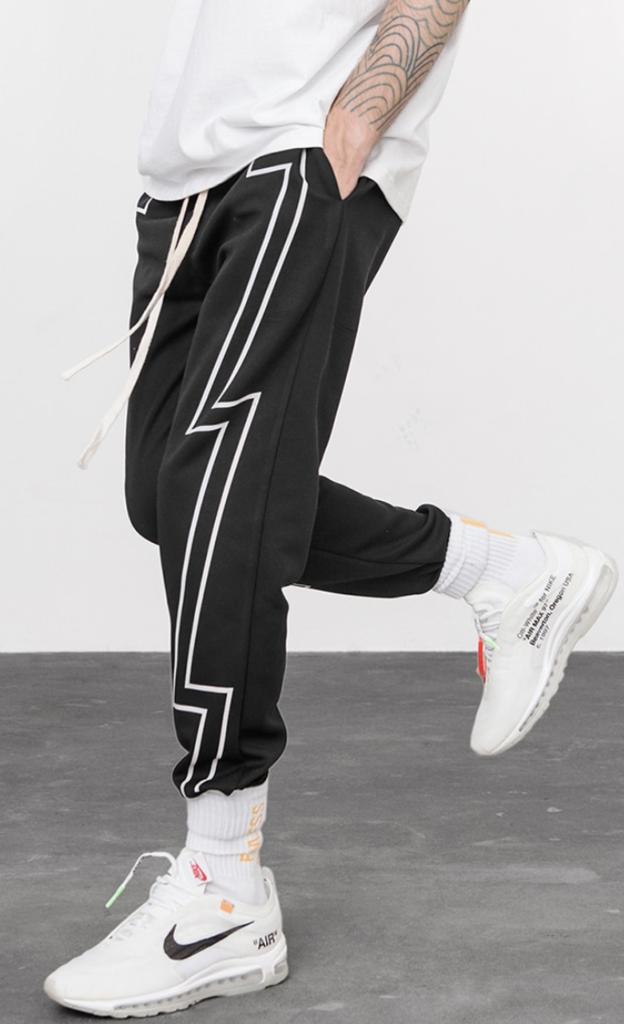 Bolt Viteliuss Dapper Mens Fashion Printed Sweatpants Mens