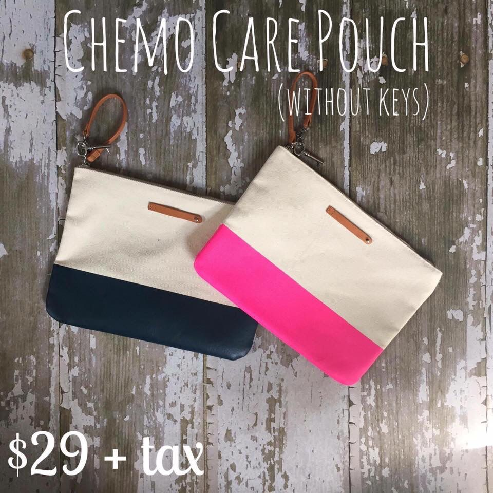 Chemo Care Pouch, sponsor a pouch and our commission goes to filling the pouch full of goodies for patients!  http://www.keepcollective.com/with/terrieastepp