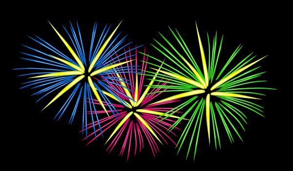 Image result for fireworks clipart black background