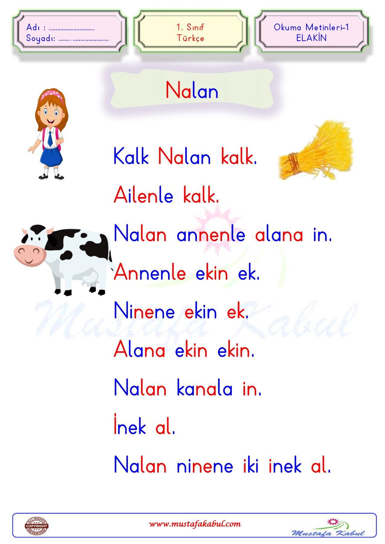 1.Sınıf-Türkçe-Okuma Metinleri-ELAKİN