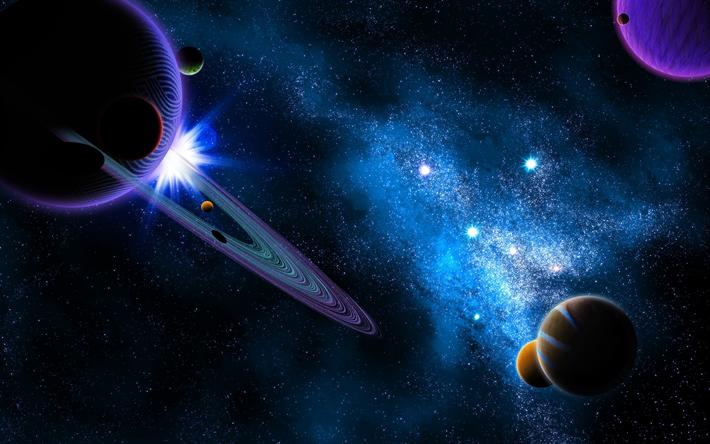 Herunterladen hintergrundbild planeten 4k saturn for Sfondi galassie hd