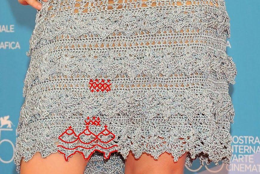 crochelinhasagulhas: Vestido de crochê da atriz Alessandra Negrini