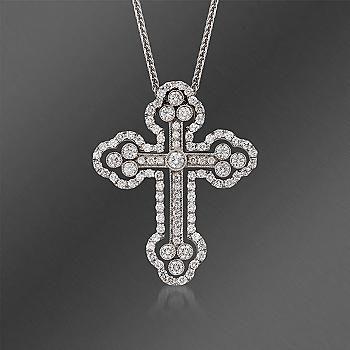 Ross simons simon g 140 ct tw large diamond cross pendant tw large diamond cross pendant necklace mozeypictures Choice Image