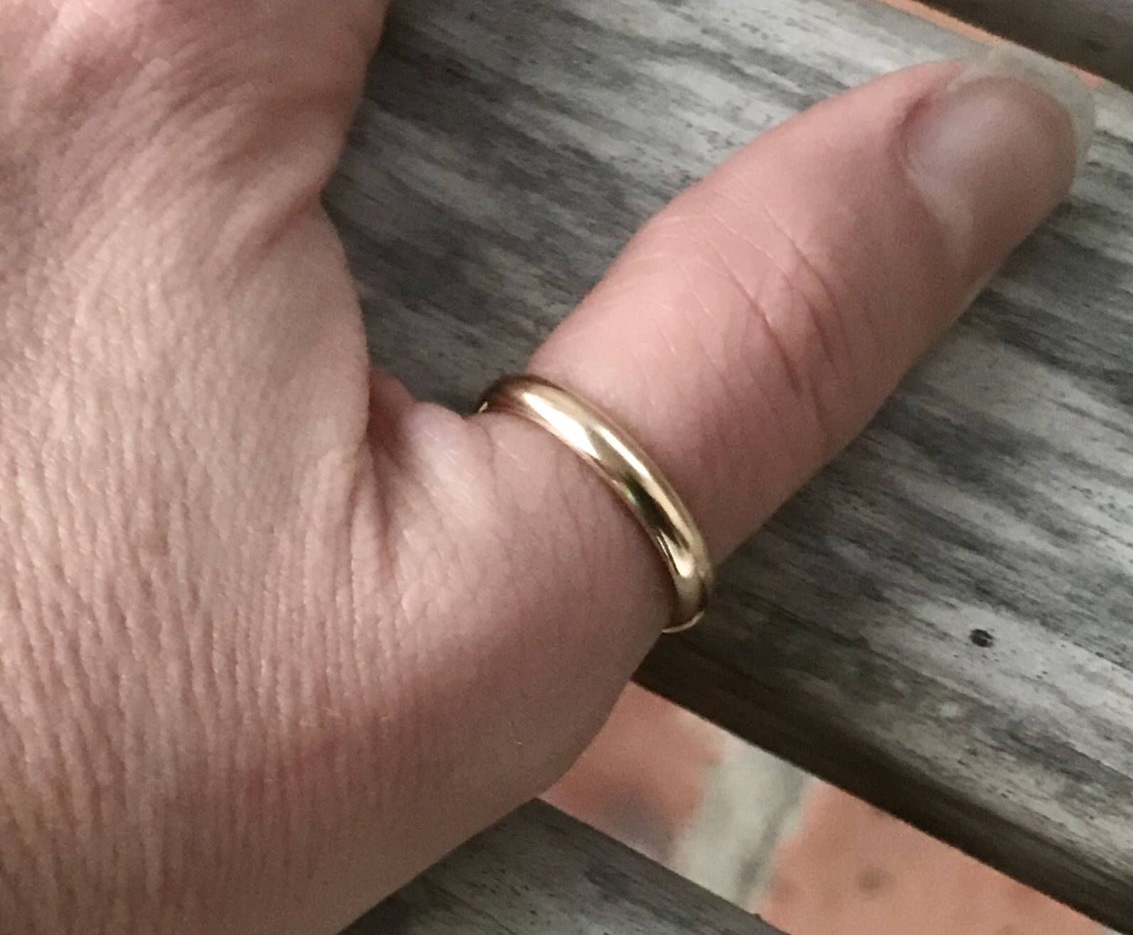 Simple 14k Gold Filled Thumb Ring | Boho Gold Thumb Ring | Available ...