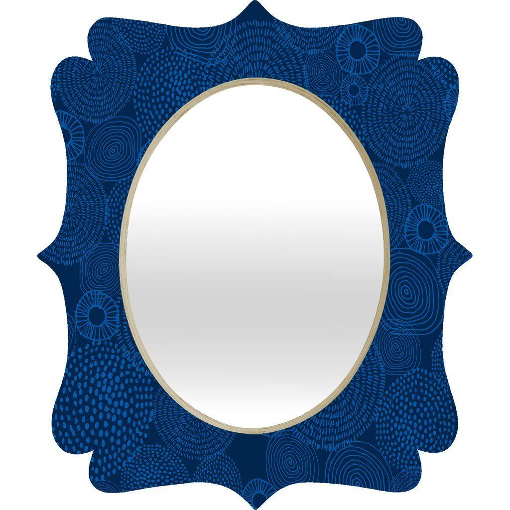 Camilla Foss Circles In Blue I Quatrefoil Mirror | DENY Designs Home Accessories