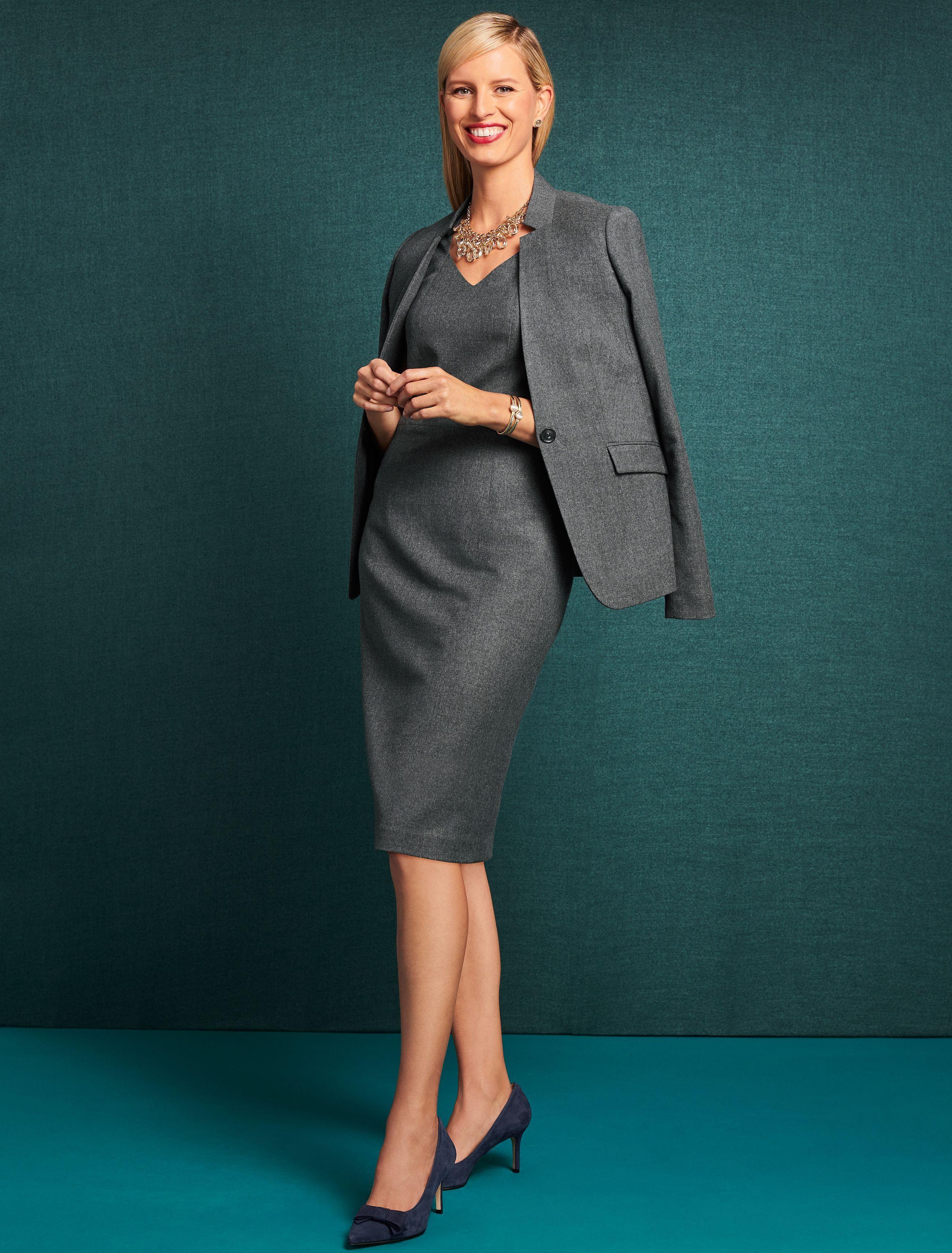 Flannel formal dress  Luxe Italian Flannel Sheath Dress  Wear to Work  Pinterest