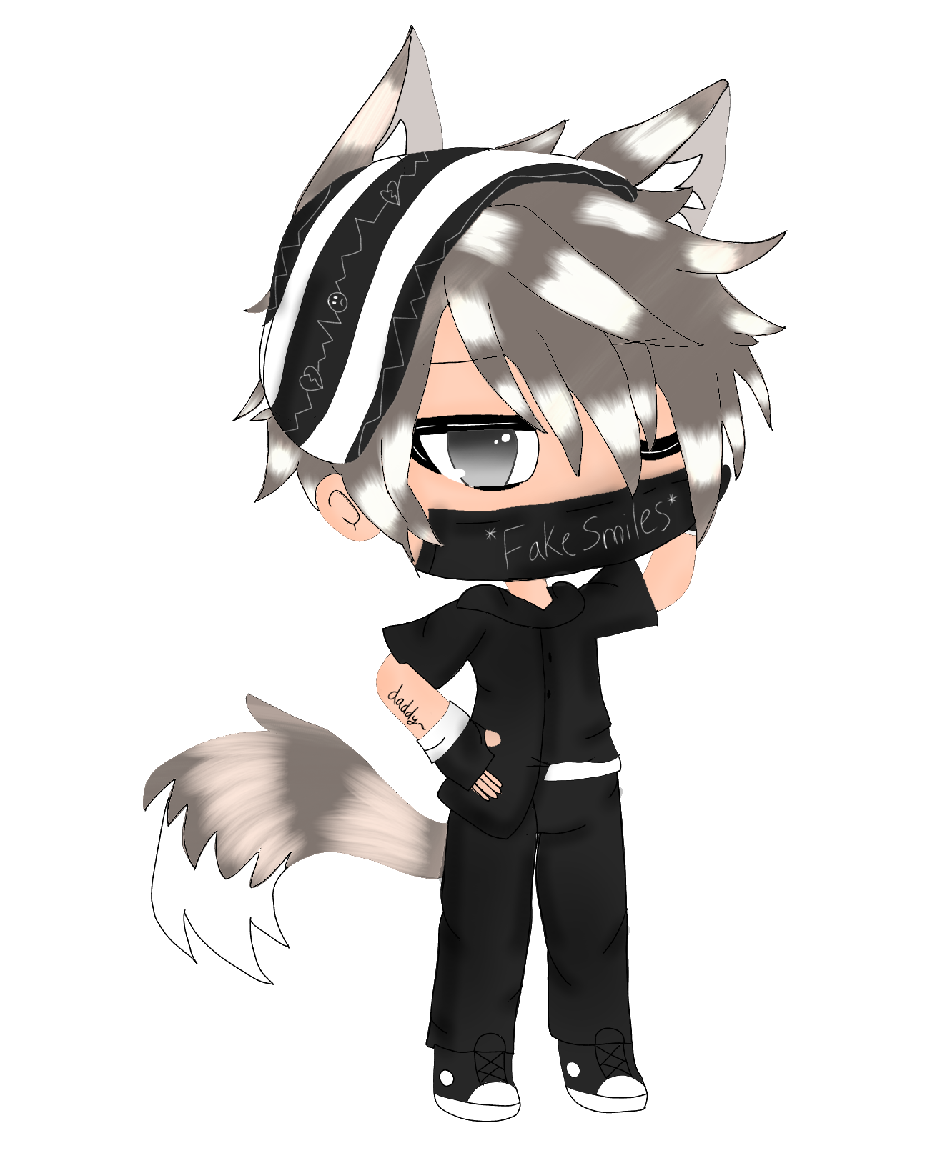 Gacha Boy Uglyboi Ew Edit Cri Oc Freetoedit Remixit Anime Wolf Girl Cute Anime Character Baby Animals Funny