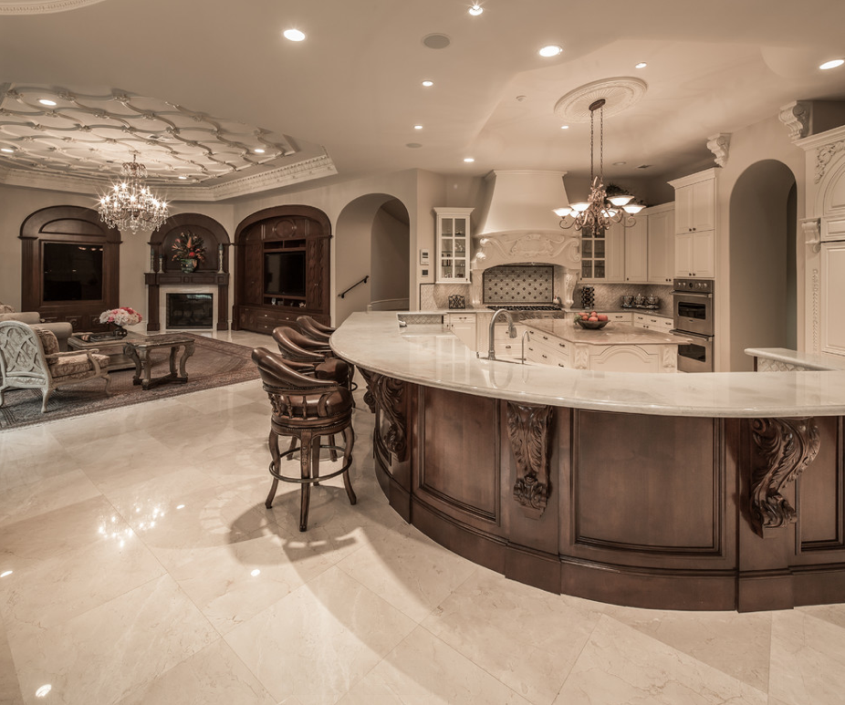 Luxury Home Kitchens: This Mediterranean Style Mansion Is Located In Houston, TX