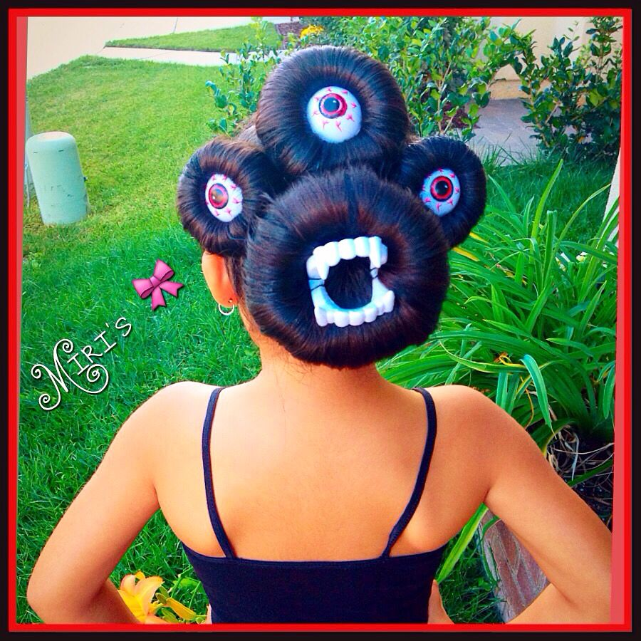 halloween hair style little monster my creation miris things in 2018 pinterest. Black Bedroom Furniture Sets. Home Design Ideas