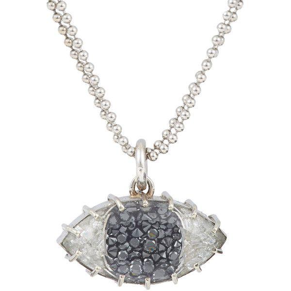 Renee lewis diamond white gold evil eye pendant necklace 9000 renee lewis diamond white gold evil eye pendant necklace 9000 liked on aloadofball Gallery