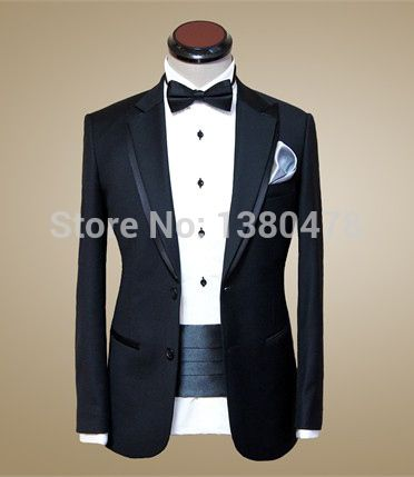 >> Click to Buy << BUY Free Shipping!Custom made men suit,black mens wedding suit,double collar mens tuxedos(jacket+pants+tie++Girdle)Free Shipping #Affiliate