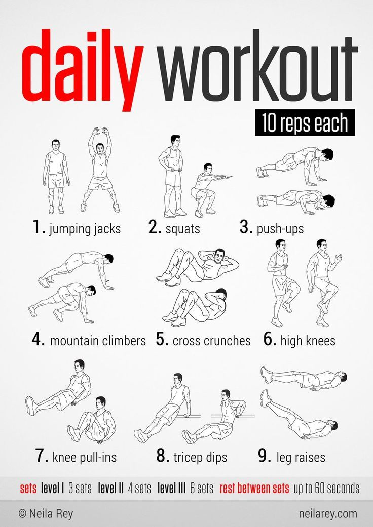 Easy Daily Workout. This would be great to do during the holidays when  fitting in a long workout is difficult! acfeee01524