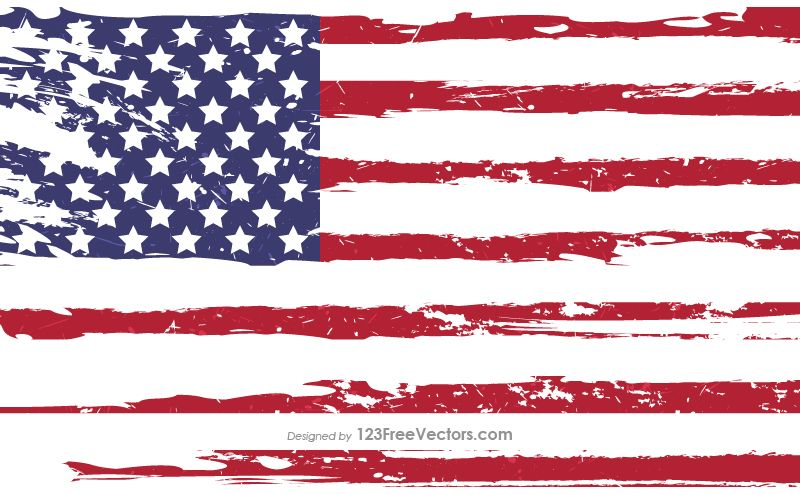 Grunge American Flag Vector Flag Vector Flag American Flag