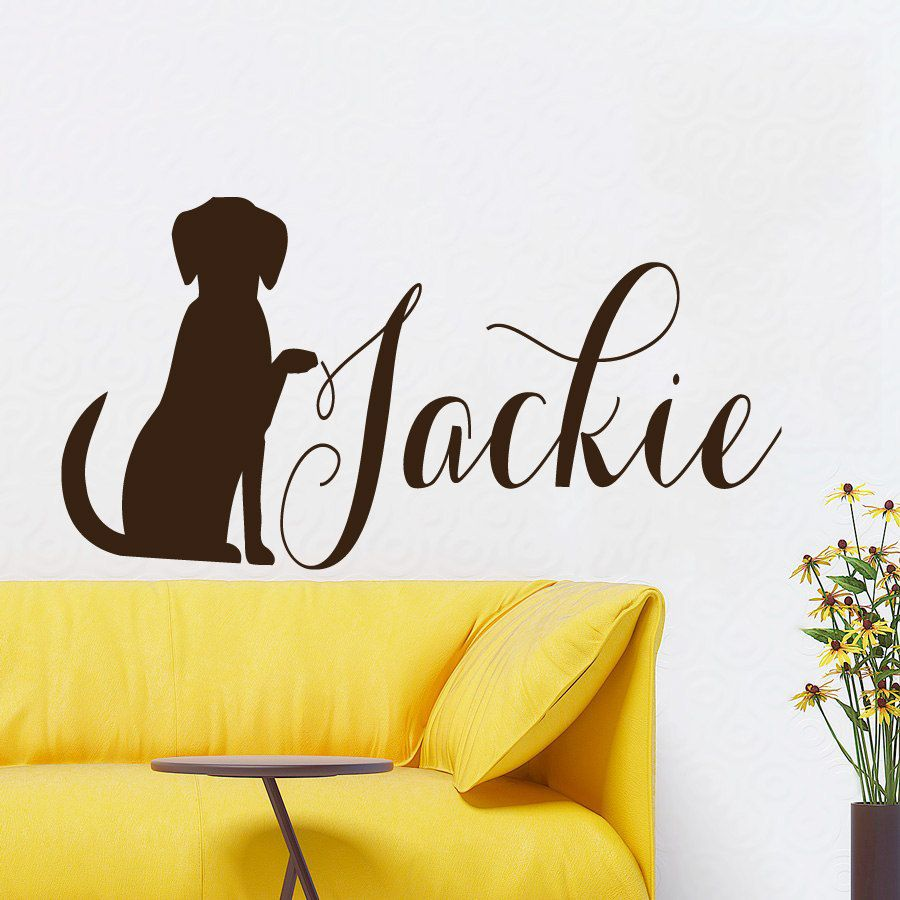 Dog Wall Decals Pet Personalized Nickname Grooming Salon Puppy Pet ...