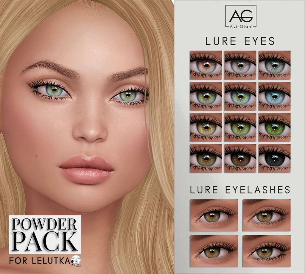 Photo of Lure Eyes  Lashes for Powder Pack – Lelutka (August)