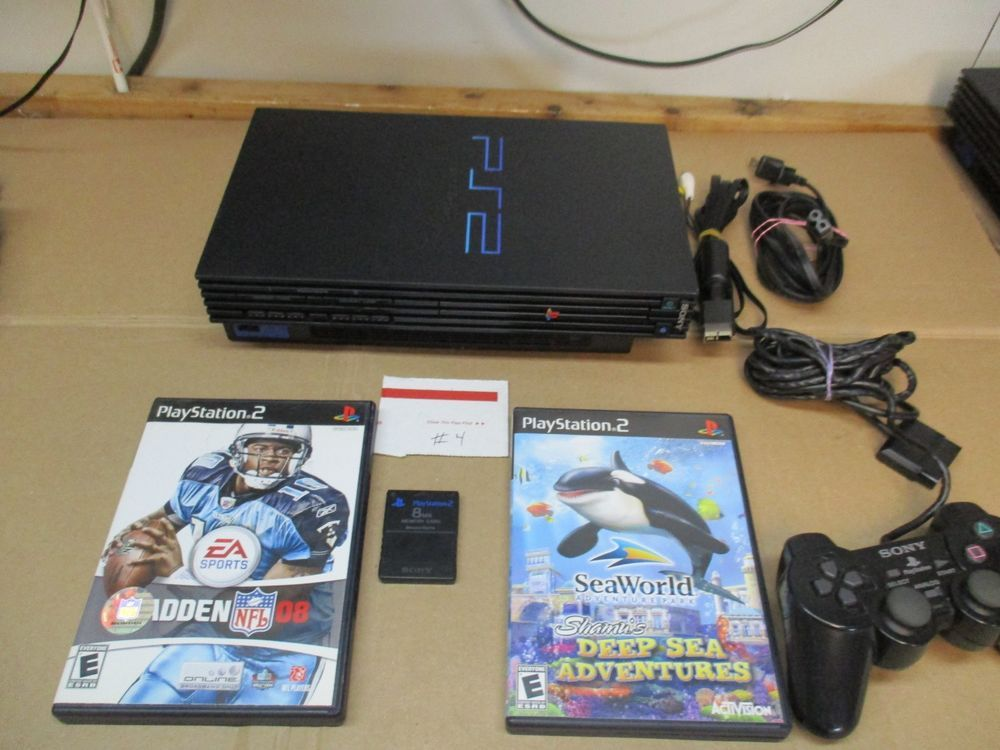 Sony Ps2 Console Bundle Games Controller Card Does Not Read Blue Back Disc 4 Playstation 2 Slim Playstation 2 Sony Playstation