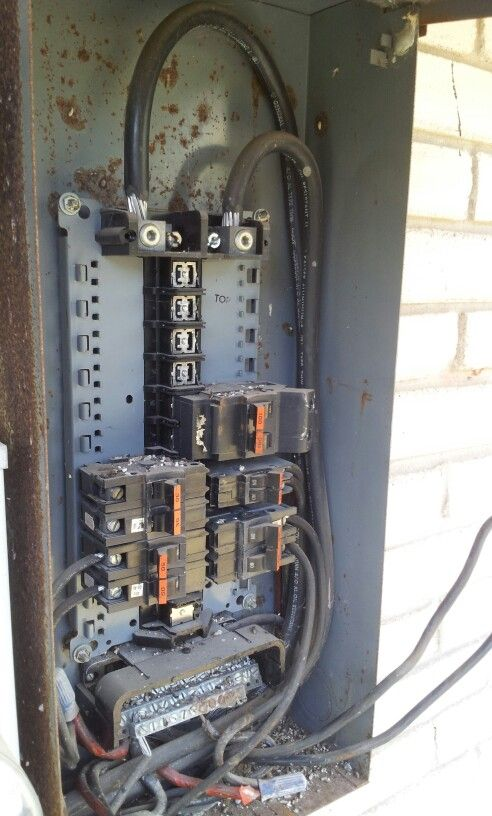 Old Electrical Panel Electrical Services High Voltage