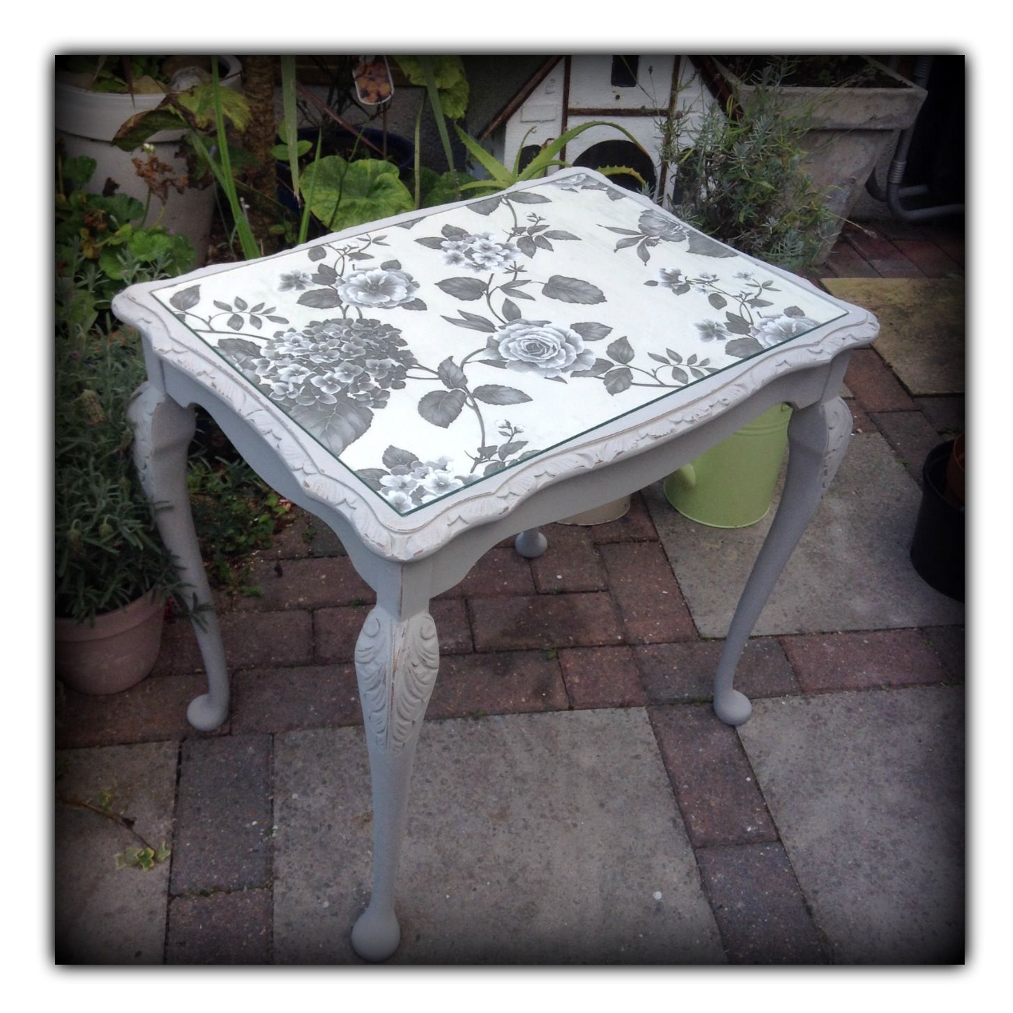 floral decoupage furniture. Floral Decoupage Furniture. Table Painted In Annie Sloan Paris Grey With Cream And Furniture