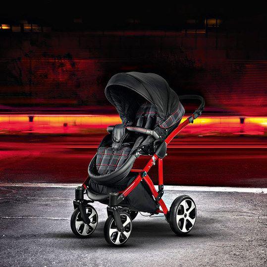 knorr baby kombi kinderwagen volkswagen gti schwarz rot. Black Bedroom Furniture Sets. Home Design Ideas