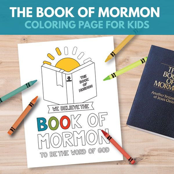 The Book of Mormon Coloring Page - Great for Primary 3 Lesson 17 ...
