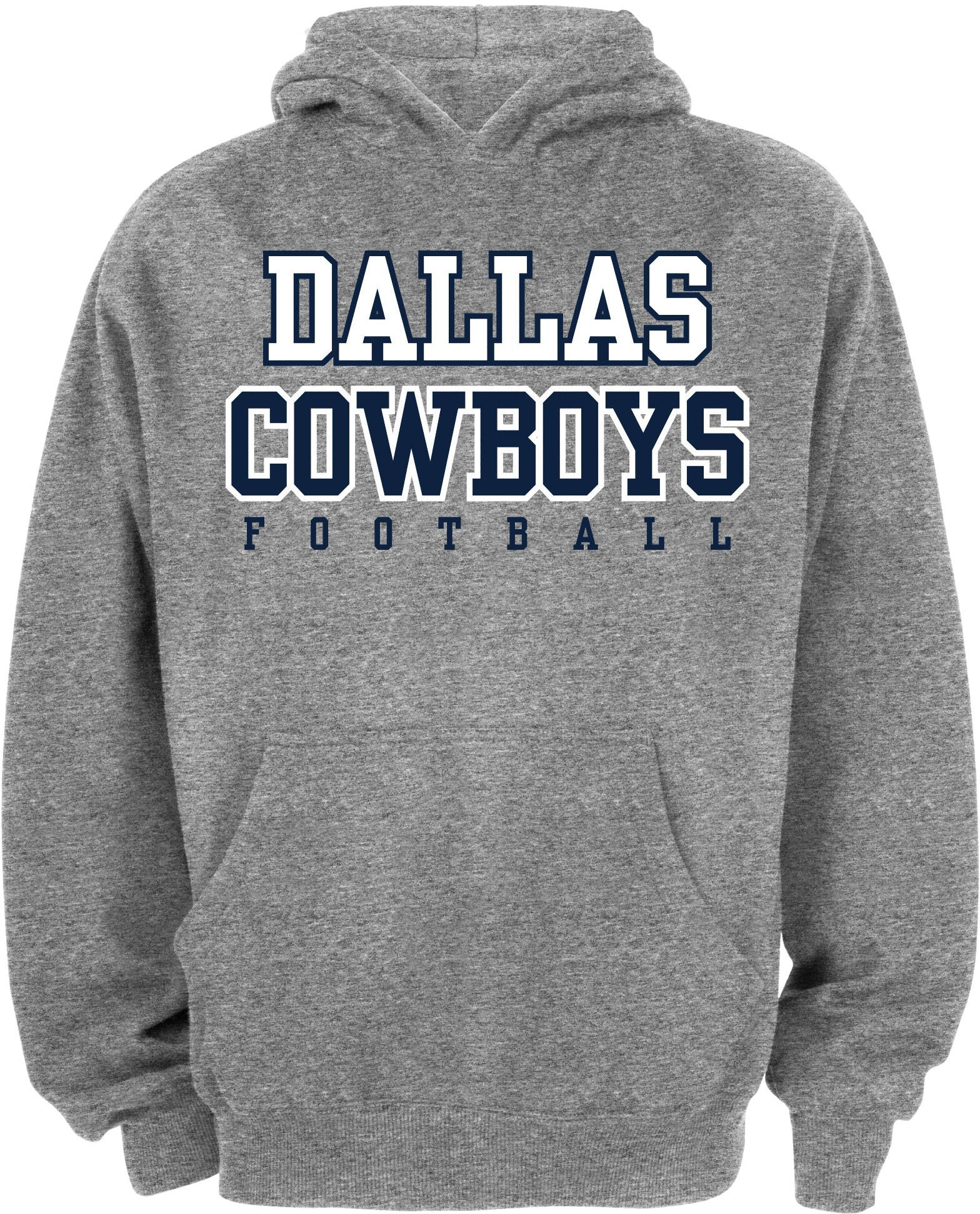 Cheap Dallas Merchandising Youth Grey Practice Hoodie, Boy's, Size: Medium  for sale