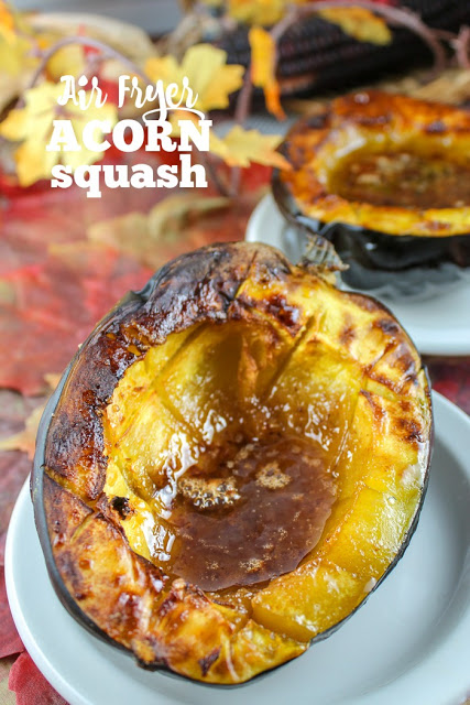 Air Fryer Acorn Squash is so EASY!!! My Dad used to make