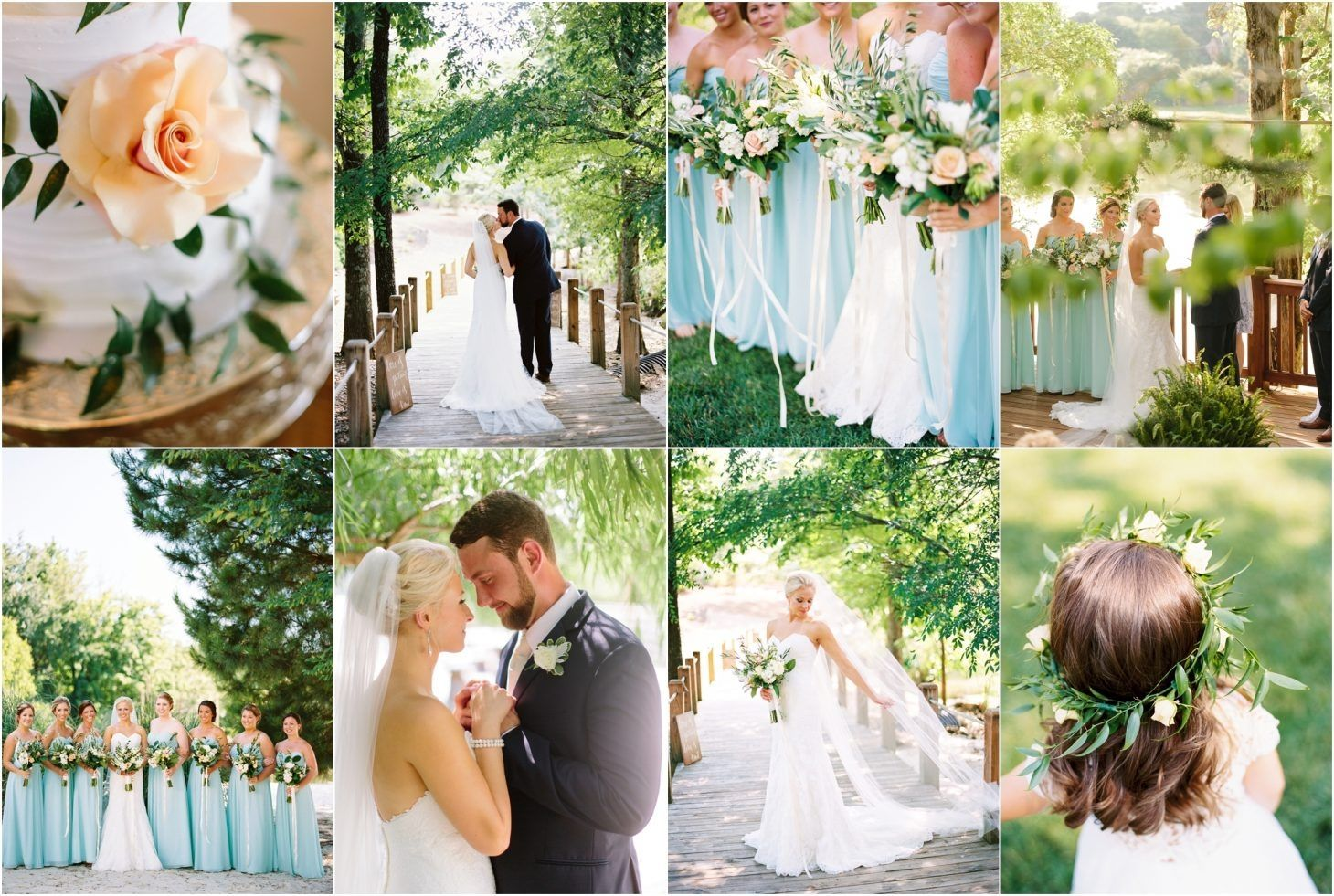 Spring wedding with coral bouquets by Swank Floral at Hunter Valley Farm in Knoxville, TN!