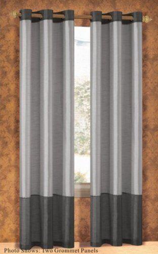 Duck River Textile Bridgettebritney 2 Tone Grommet Panel Silver