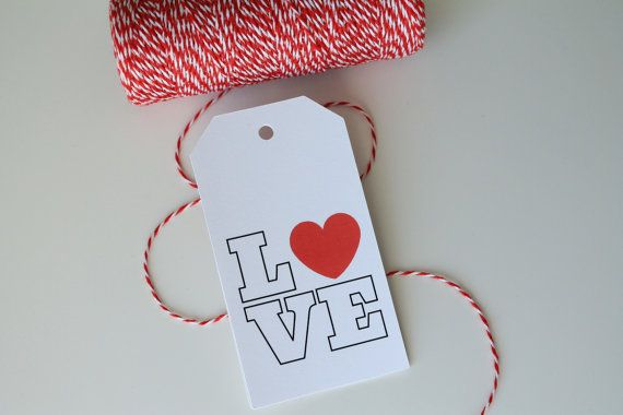 Love Favor Tags, Wedding Tags, Love Wedding Favor Tags, Love Heart Tags, Valentine's Day by @ANavyHeart