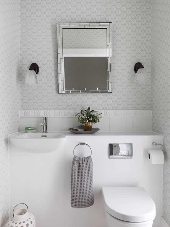 56 Projetos de Lavabos Pequenos Decorados - Fotos! banheiro da mãe - lavabos pequeos